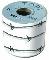 Toilet paper Topi Barbed wire