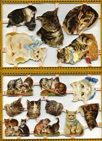Scrap reliefs Katze