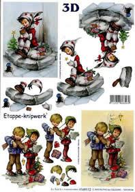 3D Bogen Weihn. Kinder II - Format A4