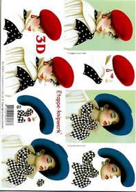 3D Bogen Frauen extravagant - Format A4