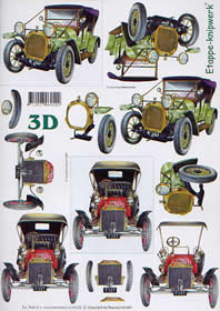 Feuille 3D Oldtimers - Format A4