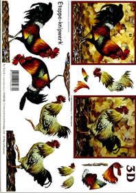 3D Bogen Hahn - Format A4