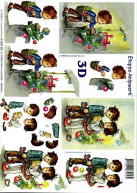 Carta per 3D Weihn. Kinder IV - Formato A4