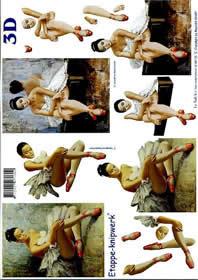 3D Bogen Ballett?nzerin - Format A4