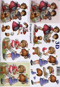 Hojas de 3D Kinder - Formato A4