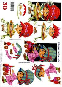 3D Bogen Kind + gr. Hut - Format A4