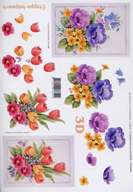 Hojas de 3D Tulpen + Anemonen - Formato A4