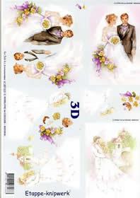 3D Bogen Ehepaar - Format A4