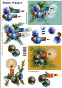 3D sheet Weihnachtskerzen - Format A4