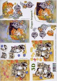 3D sheet Kätzchen - Format A4