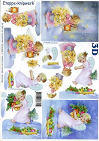 Hojas de 3D Weihnachtsengel - Formato A4