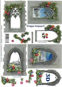 3D sheet Weihnachtsfenster - Format A4