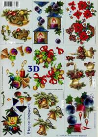 3D sheet Klein - Weih. Kerzen - Format A4