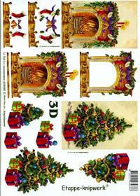 3D sheet Weihnachtskamin - Format A4