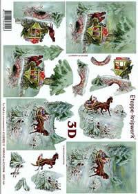 3D sheet Kutsche + Schlitten - Format A4