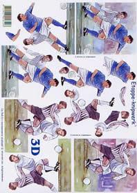 3D sheet Fußballspieler - Format A4