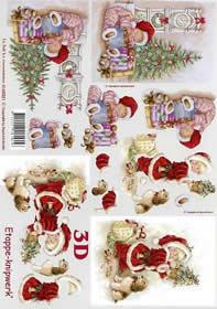 3D sheet Weihnachtskind und Uhr - Format A4