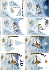 Feuille 3D Kirche im Schnee - Format A4