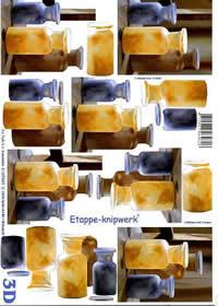 3D Bogen 3 Kannen - Format A4