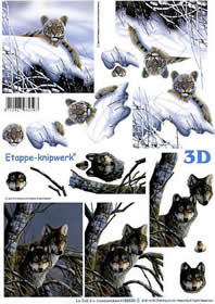 3D sheet Tiger + W?lfe - Format A4