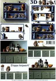 Feuille 3D Vögel+Küchenschrank - Format A4