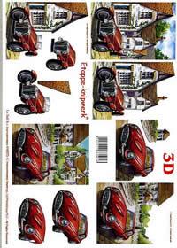 3D Bogen Autos - Format A4