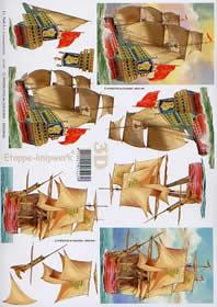 Feuille 3D Segelschiffe - Format A4