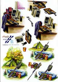 3D Bogen Computer + Zelten - Format A4