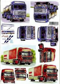 3D Bogen LKWs - Format A4
