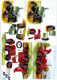 3D sheet Traktor - Format A4