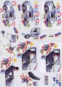 3D sheet Füherschein - Format A4