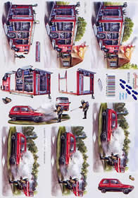 3D sheet Feuerwehr - Format A4