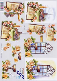 3D sheet Kommunion - Format A4