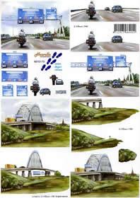 3D sheet 3 - D Schritte - Bogen - Format A4