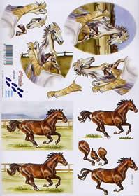 Carta per 3D Pferde - Formato A4