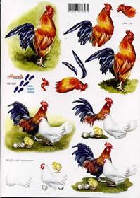 3D sheet Hahn + Huhn - Format A4