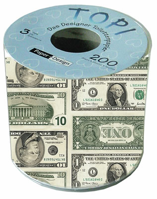 Toilettenpapier Dollar,  Everyday,  bedrucktes Toilettenpapier,  Dollar