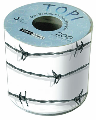 Toilettenpapier Barbed wire