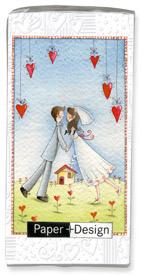 Taschentücher Lovers forever,  Sonstiges,  Ereignisse,  Everyday,  bedruckte papiertaschentücher,  Hochzeit,  Herzen
