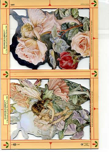 1 Bogen Poesiebilder - 15 x 23 cm Blume - Feen IV,  Poesiebilder,  Sonstiges,  Flower Fairies IV auf Blumen