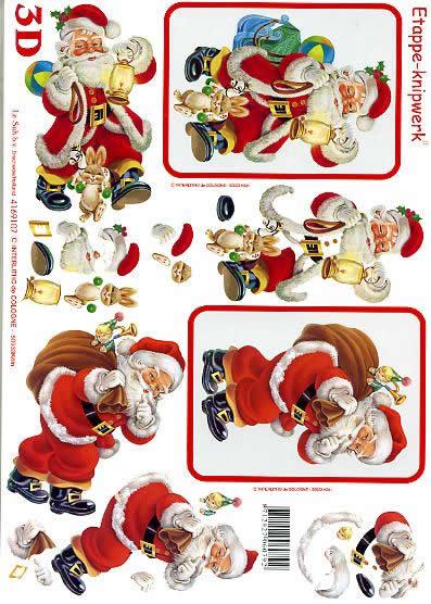 3D Bogen Weihnachtsmann - Format A4,  Le Suh,  3D Bogen,  Weihnachtsmann