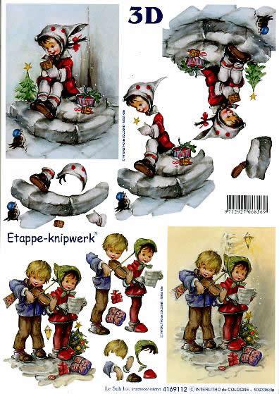 3D Bogen Weihn. Kinder II - Format A4,  Menschen - Kinder,  Le Suh,  3D Bogen,  Weihn. Kinder II, Noten,  Musik