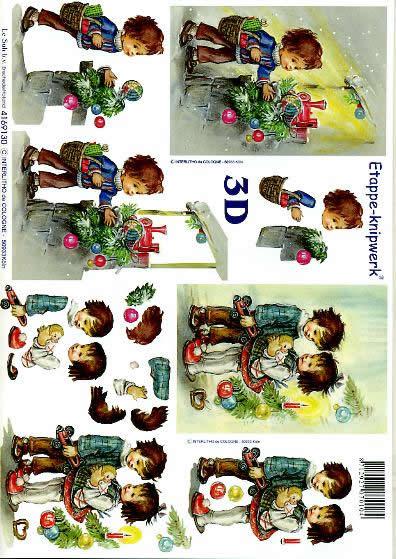 3D Bogen Weihn. Kinder IV - Format A4,  Weihnachten - Kerzen,  Le Suh,  3D Bogen,  Weihn. Kinder IV,  Kerzen