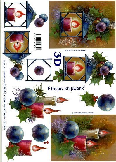 3D Bogen Weihnachtslaterne - Format A4,  Weihnachten - Kerzen,  Le Suh,  3D Bogen,  Weihnachtslaterne,  Kugel