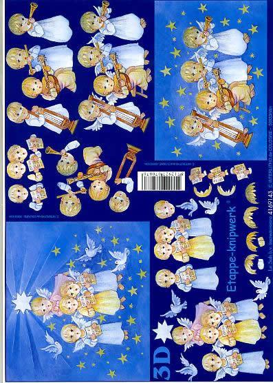 3D Bogen Engel in Blau - Format A4,  Sonstiges - Musik,  Le Suh,  3D Bogen,  Engel in Blau