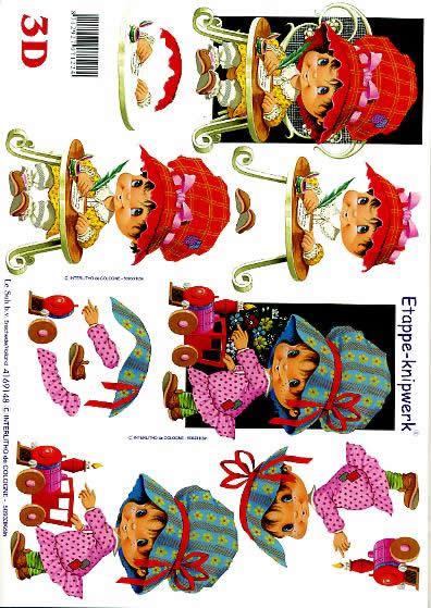 3D Bogen Kind + gr. Hut - Format A4,  Le Suh,  3D Bogen,  Kind + gr. Hut