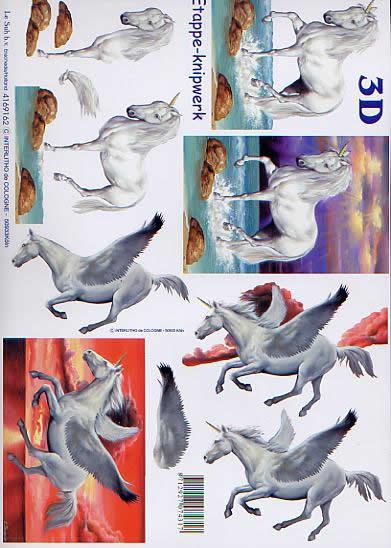 3D Bogen Einhorn - Format A4,  Tiere - Pferde,  Le Suh,  3D Bogen,  Einhorn,  Phantasie