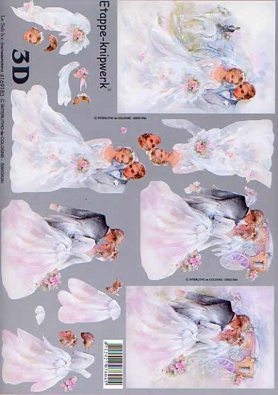 3D Bogen Heiraten - Format A4,  Blumen -  Sonstige,  Le Suh,  3D Bogen,  Heiraten,  Hochzeit