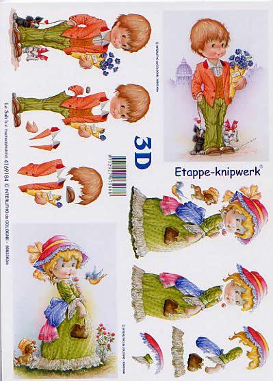 3D Bogen Jungen+Mädchen - Format A4,  Ereignisse - Liebe,  Le Suh,  3D Bogen,  Jungen+Mädchen