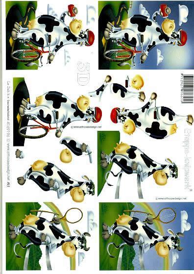 3D Bogen Kuh 1 - Format A4,  Le Suh,  3D Bogen,  Kuh 1